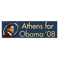 Athens for Obama '08 bumper sticker