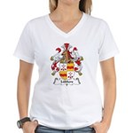 Lubbers Family Crest Women's V-Neck T-Shirt