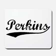 Vintage Perkins (Black) Mousepad