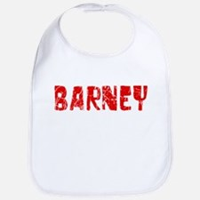Barney Faded (Red) Bib
