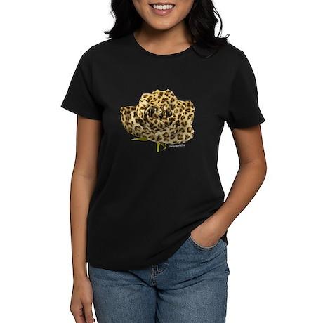 Leopard Rose Women's Dark T-Shirt