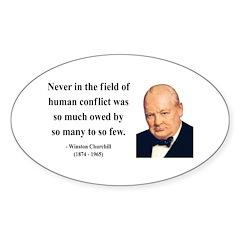 Winston Churchill 12 Oval Decal
