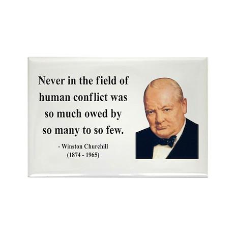 Winston Churchill 12 Rectangle Magnet (10 pack)