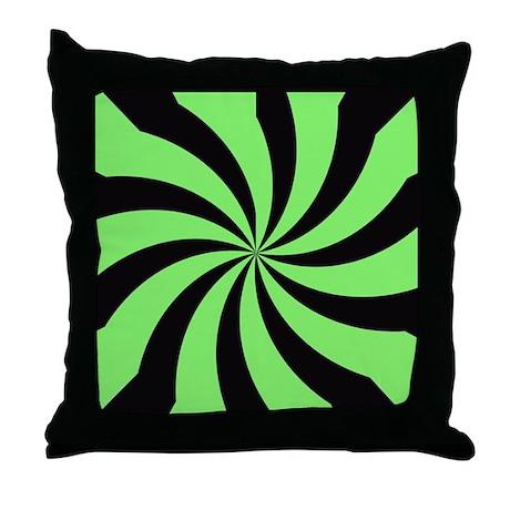Acid green kaleidescope Throw Pillow