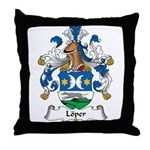 Loper Family Crest Throw Pillow
