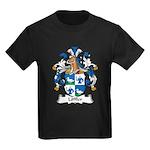 Loffler Family Crest Kids Dark T-Shirt