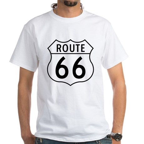 Route 66 White T-Shirt