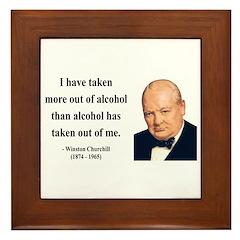 Winston Churchill 14 Framed Tile