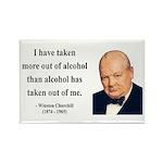 Winston Churchill 14 Rectangle Magnet (100 pack)