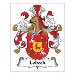 Lobeck Family Crest Small Poster