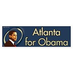 Atlanta for Obama bumper sticker