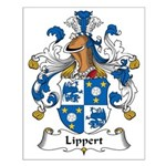 Lippert Family Crest Small Poster