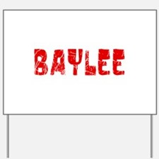 Baylee Faded (Red) Yard Sign