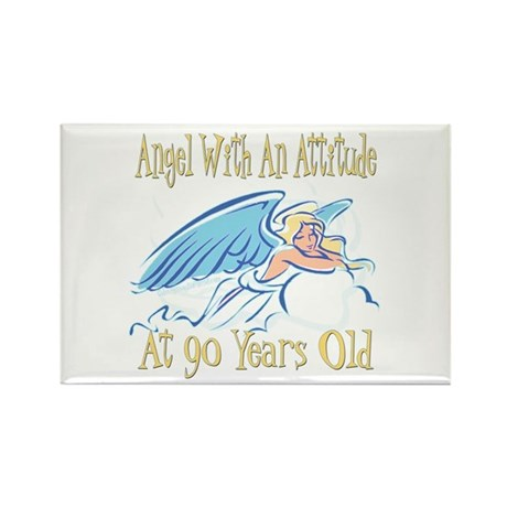 Angel Attitude 90th Rectangle Magnet (100 pack)