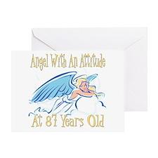 Angel Attitude 87th Greeting Card