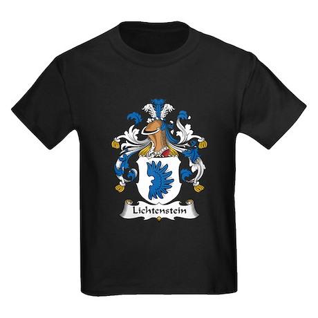 Lichtenstein Family Crest Kids Dark T-Shirt