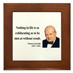Winston Churchill 16 Framed Tile