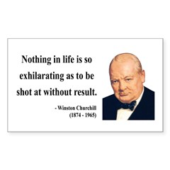 Winston Churchill 16 Rectangle Decal