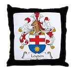 Leyden Family Crest Throw Pillow