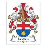 Leyden Family Crest Small Poster