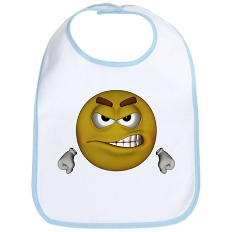 Angry Smiley Bib