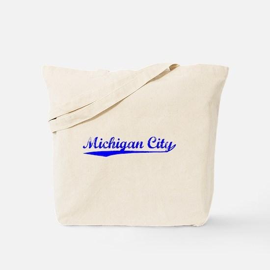 Vintage Michigan C.. (Blue) Tote Bag
