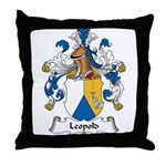 Leopold Family Crest Throw Pillow