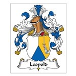 Leopold Family Crest Small Poster