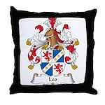 Leo Family Crest Throw Pillow