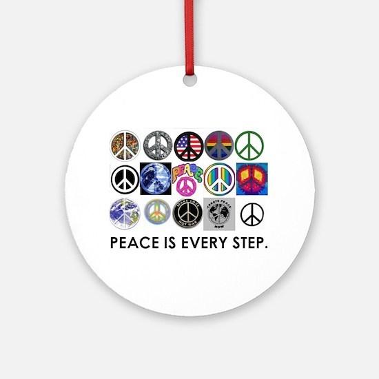 Make Peace Happen Ornament (Round)