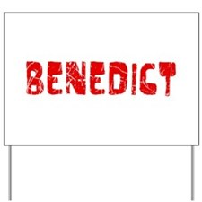 Benedict Faded (Red) Yard Sign