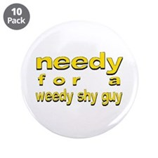 """Bret - 3.5"""" Button (10 pack)"""