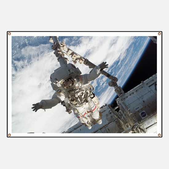STS-123 Spacewalking Astronaut - Banner