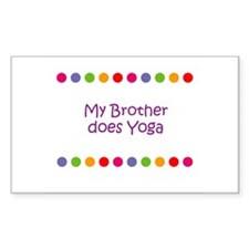 My Brother does Yoga Rectangle Decal