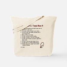 You know you're a trauma nurse if... Tote Bag