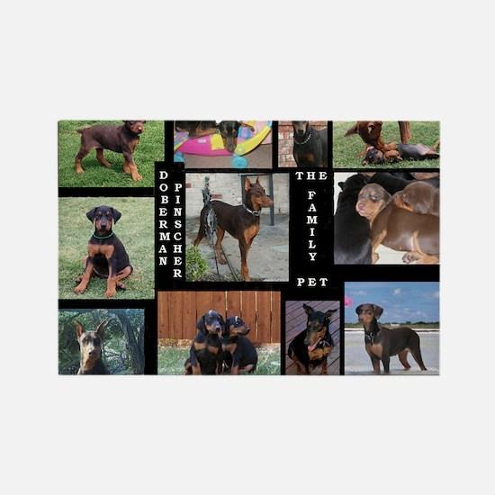 The Family Pet - Doberman Pin Rectangle Magnet (10