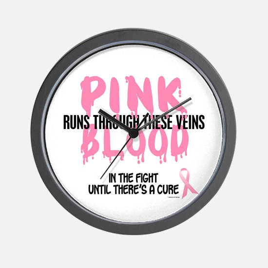 Pink Blood 1 (In The Fight) Wall Clock