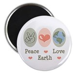 Peace Love Earth Magnet