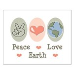 Peace Love Earth Small Poster