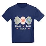 Peace Love Earth Kids Dark T-Shirt