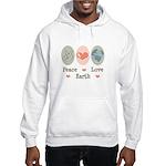 Peace Love Earth Hooded Sweatshirt