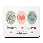 Peace Love Earth Mousepad