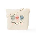 Peace Love Earth Tote Bag
