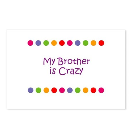 My Brother is Crazy Postcards (Package of 8)