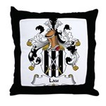 Lau Family Crest Throw Pillow