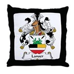 Lanser Family Crest Throw Pillow