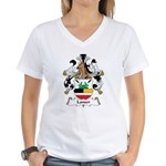 Lanser Family Crest Women's V-Neck T-Shirt