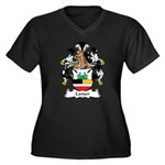 Lanser Family Crest Women's Plus Size V-Neck Dark