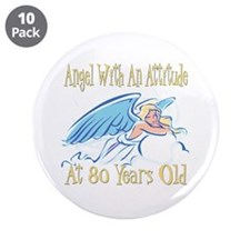 "Angel Attitude 80th 3.5"" Button (10 pack)"