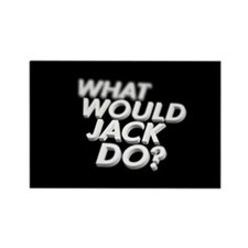 What would Jack do? Rectangle Magnet